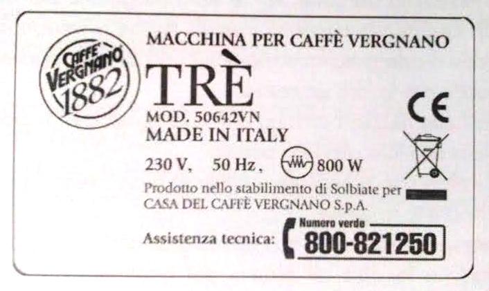 Macchina caffe per capsule tre vergnano 1882 trovaitaliano - Macchina caffe professionale per casa ...